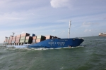 Foreign ship collision causes 19 sailors, 15 containers <span class=
