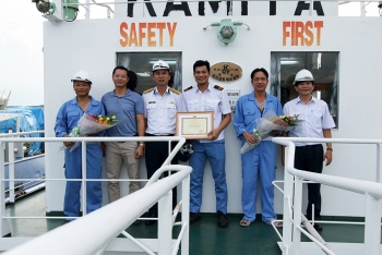 Haivanship Honored with marine salvage Service Award for Outstanding Service <span class=