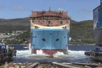 Launching Of Maersk Supply Service's AHTS – Starfish Vessel