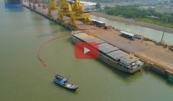 Oil spill response tranning at POSCO SS VINA
