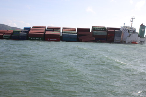 Foreign ship collision in Vungtau Vietnam